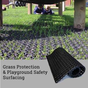 Hollow Rubber Mat - Ground Reinforcement - Grass Protection - Playground Safety