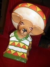 Clay Art Ah Chihuahua Mexican Dog Ceramic Cookie Jar or Cannister