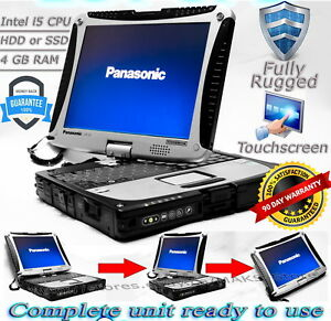 Panasonic Toughbook CF-19 MK4 i5 4-8GB 128GB-1TB HDD/SSD Rugged Laptop TOUCH W7