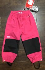 Helly Hansen Pink Shelter Pants Snow Water Pants Kids Youth Riders Size 8