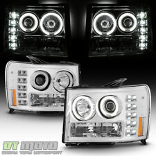 2007-2013 GMC Sierra 1500 2500HD 3500HD LED CCFL Projector Headlights Headlamps