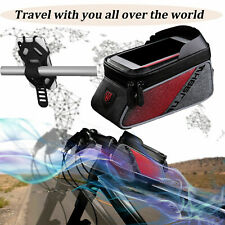 Waterproof Front Frame Cycling Bicycle Top Tube Bike Bag Phone Holder Mount/Case