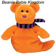 "Ty Beanie Babie * SHIVERS * The Orange Halloween Ghost 7"""