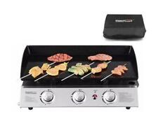 Royal Gourmet Portable 3 Grill Griddle Burner Propane Gas Camp with Cover PD1300