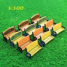 ZY36100 12pcs Model Railway Platform Park Street Seat Bench chair Settee 1:100TT