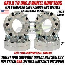 6x5.5 To 8x6.5 Wheel Adapters 14x1.5 For Chevy GMC Sierra 1500 Yukon Silverado