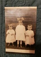 RPPC of Sweet Little Children. Precious! Gladys and Dorthy Werts & Mary Harris.