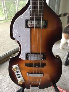 Left Handed Hofner Ignition Bass Guitar HI  with Hardcase Lefty Beatles