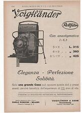 Pubblicità 1928 VOIGTLANDER ROLLFILM FOTO PHOTO advert werbung publicitè reklam