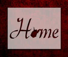 """West Virginia State Home Love 8.5"""" x 11"""" Stencil FAST FREE SHIPPING (714)"""