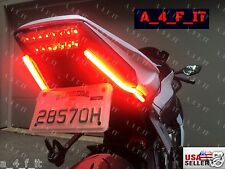 Motorcycle Led Red Tail Brake Signal Running Light 12V DRL Switchback