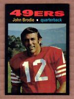 John Brodie '66 San Francisco 49ers Monarch Corona Glory Days #21 mint cond.