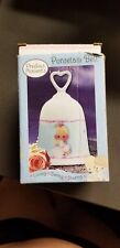 Precious Moments Porcelain Bell 2004 With Angel Hearts And Stars