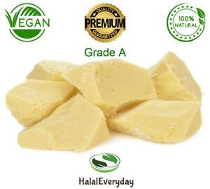 Raw Cocoa Butter 100% Pure Unrefined Organic Chocolate Bean Cacao FOOD GRADE A