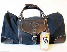 Jack Daniels Whiskey bourbon black leather duffel bag gym travel carry on old 7
