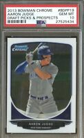 PSA 10 AARON JUDGE 2013 Bowman Chrome Draft Yankees Rookie Card RC GEM MINT QTY