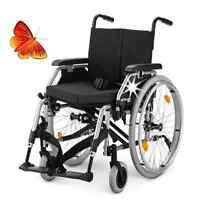 Eurochair 2.750 Rollstuhl leicht faltbar Kissen,Stützrollen,Stockhalter + Gurt