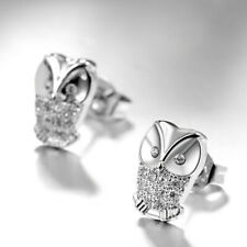 1Pair Fashion Women Shinny Crystal Animal Owl Ear Stud Earrings Studs S