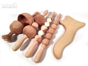 Maderoterapia set 3, Wood therapy tools, Anti cellulite