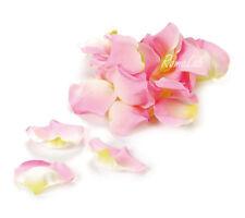 CONFEZIONE CON CIRCA 60 PETALI DI ROSA SINTETICI rosa 3 cm decorazioni scrap