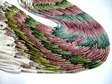 Natural Multi Tourmaline Micro Faceted Rondelle , 2mm Beads , Strand 13 inches