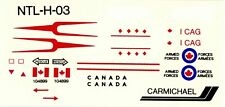 1:72 MODEL DECAL SHEET RCAF ROYAL CANADIAN AIR FORCE CF-104 1st COMBAT AIR GROUP