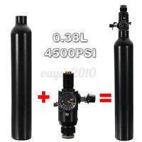 0.38L Liter Aluminum Tank Air Bottle 4500 PSI Regulator Fit for Paintball PCP