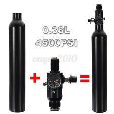 0.38L Liter Aluminum Tank Air Bottle 4500 PSI Regulator Fit for Paintball PCP
