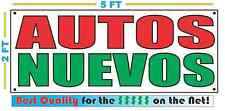 AUTOS NUEVOS Full Color Banner Sign NEW XXL Size Best Quality for the $$ New Car