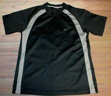 Nike Short Sleeve Ss Shirt Mens Large Black Gray Athletic Running Training Gym