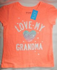 T Shirt Top 4T Childrens Place Love My Grandma Pink Salmon Graphic Tee Heart