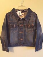 NWT $44 Osh Kosh B'gosh Girls 4 5 6 Jean Jacket DENIM Barn Coat BLUE New #330914