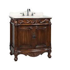 """32"""" Traditional Fiesta Bathroom Sink Vanity w/ Cream Marble Top Cf-2873M-Tk"""