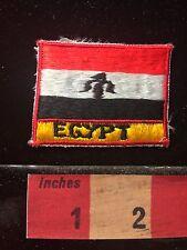 Vtg Africa Egypt Patch ~ Embroidered Egyptian Flag Theme Souvenir 69QQ