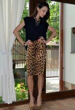ZARA TRF leopard print pencil skirt