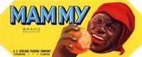 FLORIDA CRATE LABEL MAMMY BLACK AMERICANA 1930s VINTAGE ORIGINAL LEESBURG CITRUS