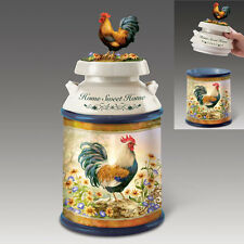 Country Morning Rooster Cookie Jar Bradford Exchange - Home Decor