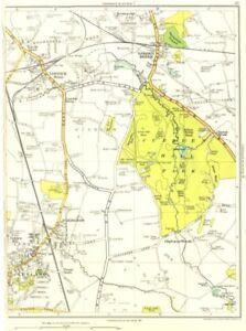 LANCASHIRE.Tardy Gate,Lostock Hall,Bamber Bridge,Farington,Leyland 1935 map