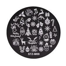 Nail Art Stamping Plates Image Plate Decoration Christmas Candy Cane Santa STZM9