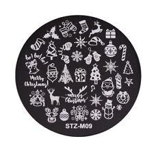 Arte de uñas imagen Planchas para Estampar placa Decoracion Navidad Candy Cane Santa stzm 9