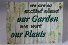 Vintage retro funny gardening joke on a new metal wall sign plaque gift idea