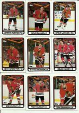 1990 Topps Chicago Blackhawks Team Set! Murray,Waite, Lemieux, Gilbert, Goulet!