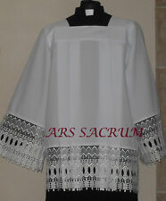 PRIEST SURPLICE, CHORROCK, VESTMENT, SIZE 170 CM  WHITE