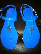 Coach Sandals Flip Flops Jelly PANSY Blue Thongs Size 5 Or 8
