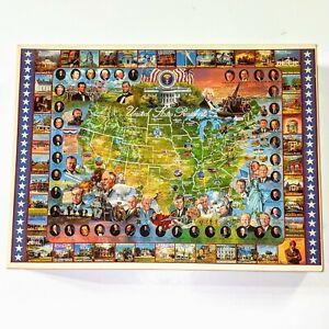 Vintage 1000 Piece Presidential Jigsaw Puzzle Washington - Clinton Presidents
