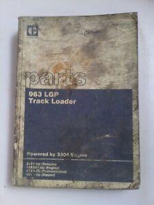 Caterpillar 963 LGP Track Loader parts manual. Genuine Cat book.