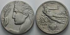 1912  Regno D'Italia 20  centesimi  Libertà librata  KM#44