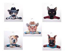 Home Decor 5Pack Animal Clothing Hanger Cowboy Dog/Cowboy Cat/Bull Dog/Boxer/Bla