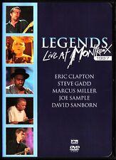 LEGENDS - Live At Montreux DVD, ERIC CLAPTON, DAVID SANBORN, JAZZ, BLUES, MINT!