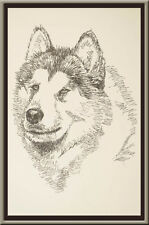 Alaskan Malamute Signed Dog Art Print #40 Stephen Kline adds your dogs name free